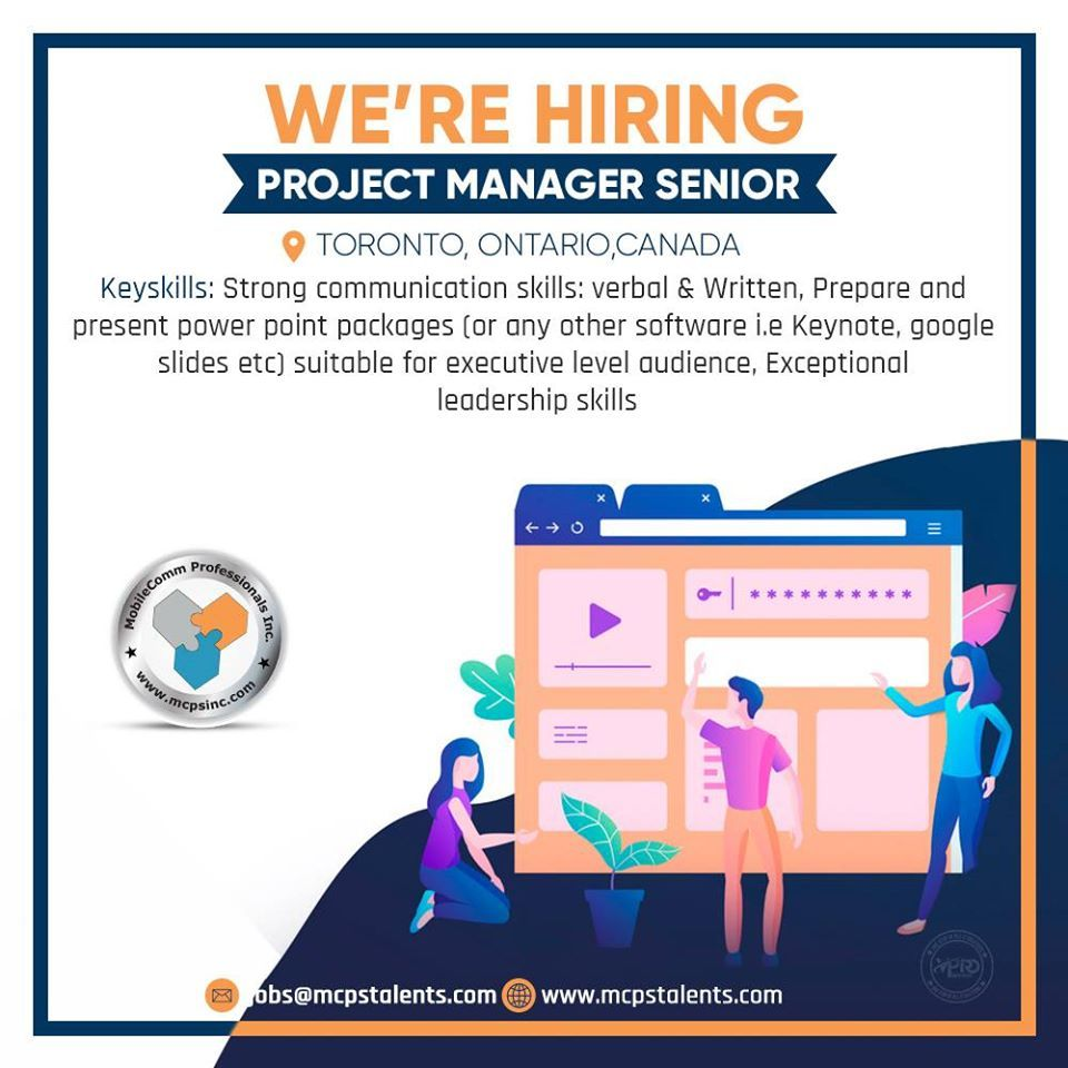 Hiring a project manager senior in toronto in 2020