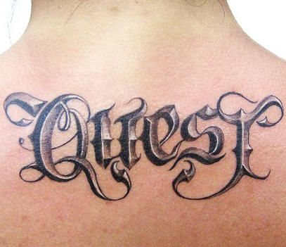 3d Word Tattoos 3d Tattoos Tattoo Script Tattoo Script Fonts