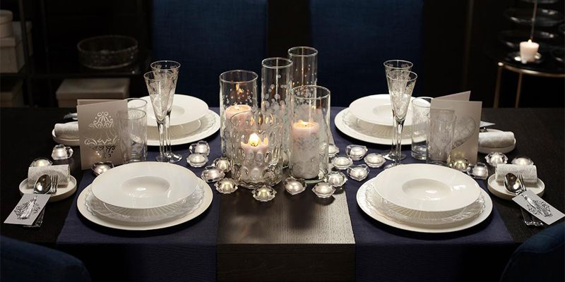 Ikea mesa de navidad elegante sofisticada christmas deco pinterest christmas deco - Mesa de navidad elegante ...