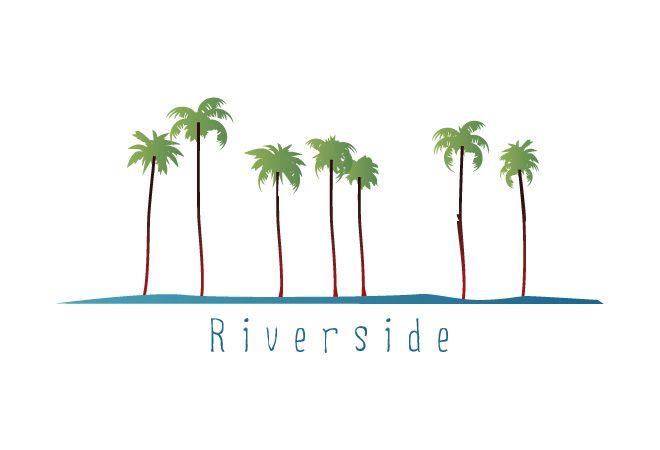 Simple But Colorfull Palm Logo Papel De Parede De Marmore