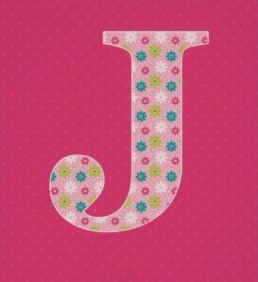 Letter J Initial Alphabet Poster For Girl Zazzle Co Uk Alphabet Poster Lettering Alphabet Letter J