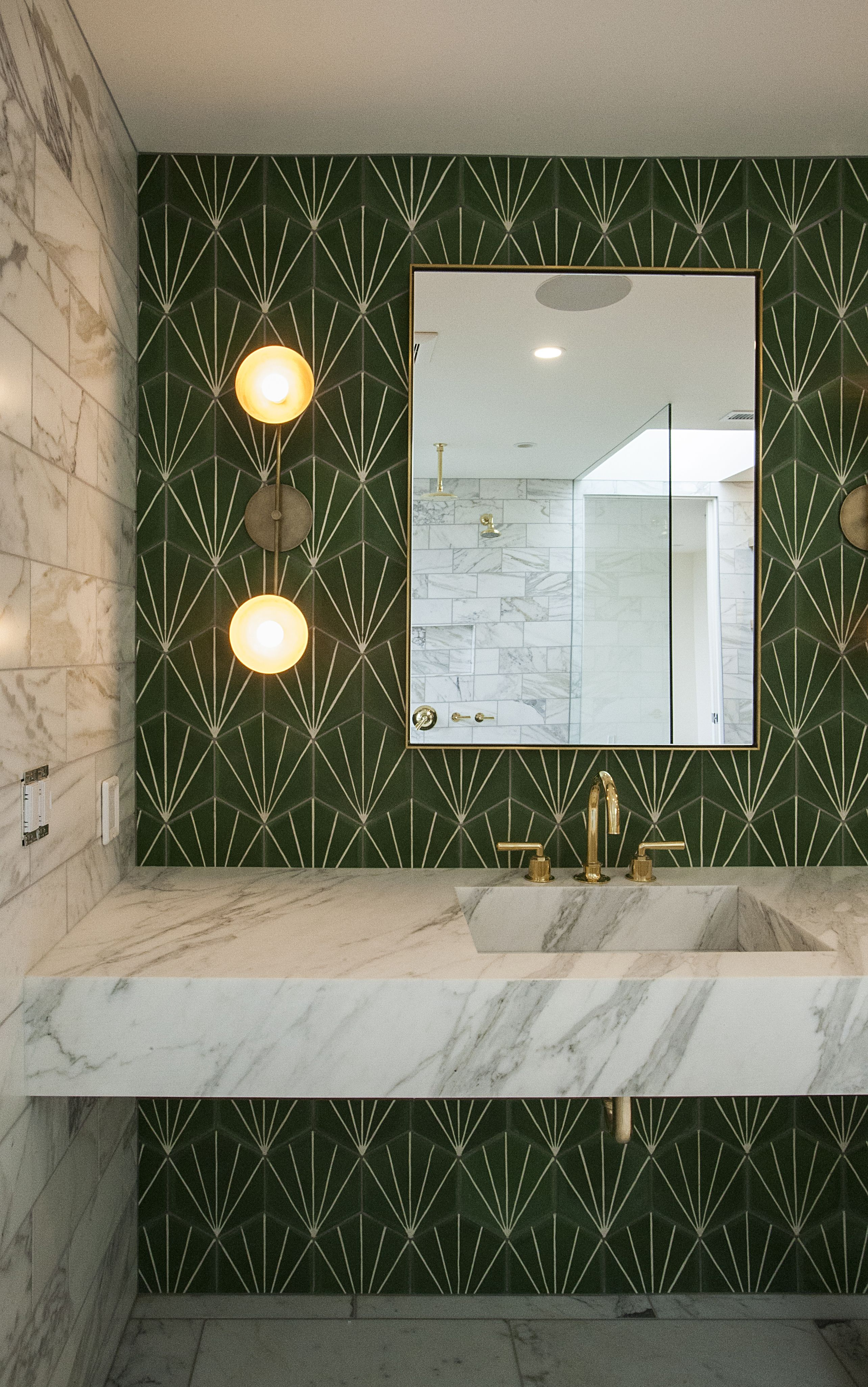 Beautiful Vanity Wall With Cement Tile From Marrakech Design Love