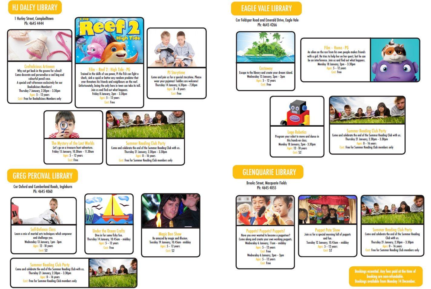 Summer School Holiday Activities 16 Bookings Open