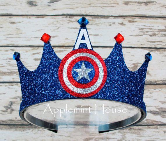 Captain America Crowncaptain America Birthday Crownsuperhero Party
