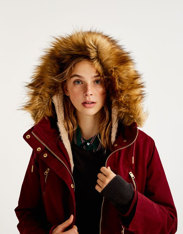 Check Out Our New Autumn Winter 2017 Collection For Women And Men At Pull Bear You Will Find The Most Alternative And Modern Trends Iwanti Parka Giyim Kadin