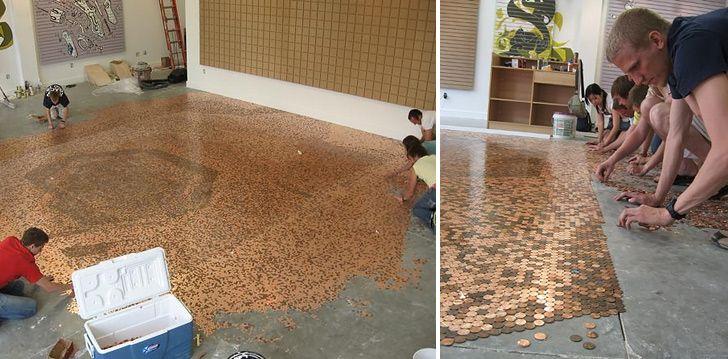 DIY Penny Floor – Dan330