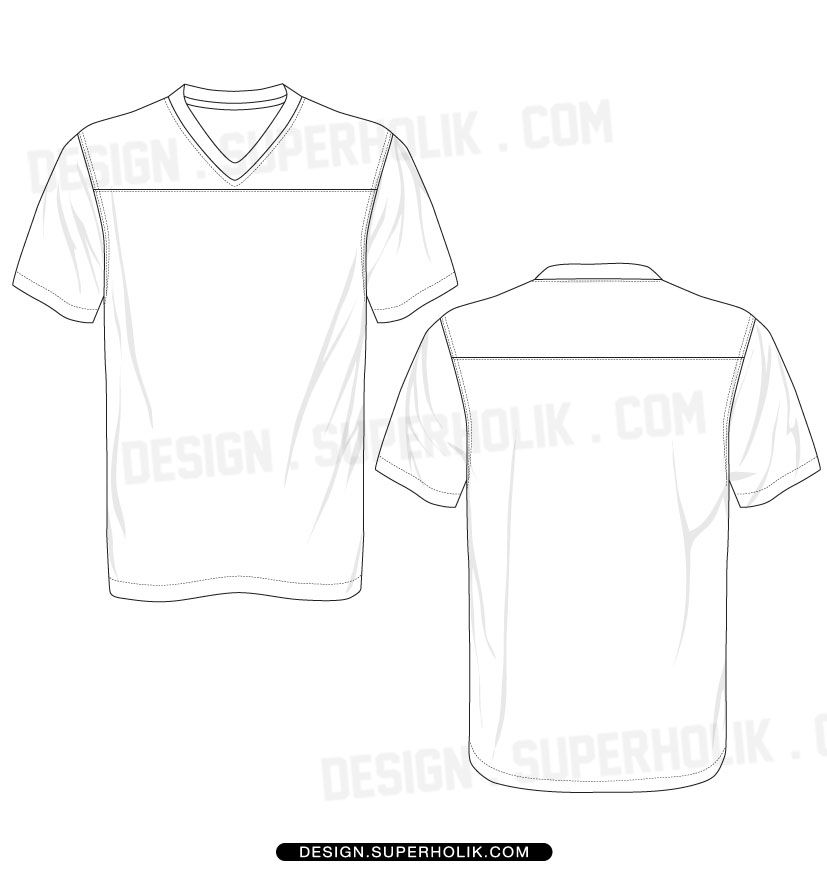 Football Jersey Template Set Fashion Design Template Jersey