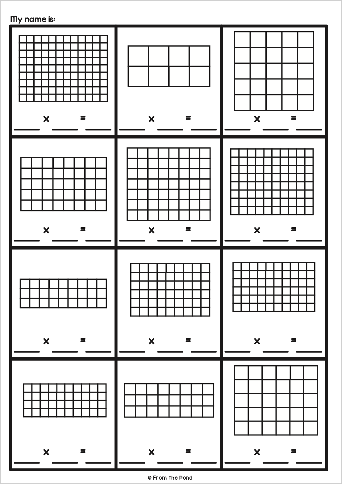 medium resolution of Array Activities   Multiplication