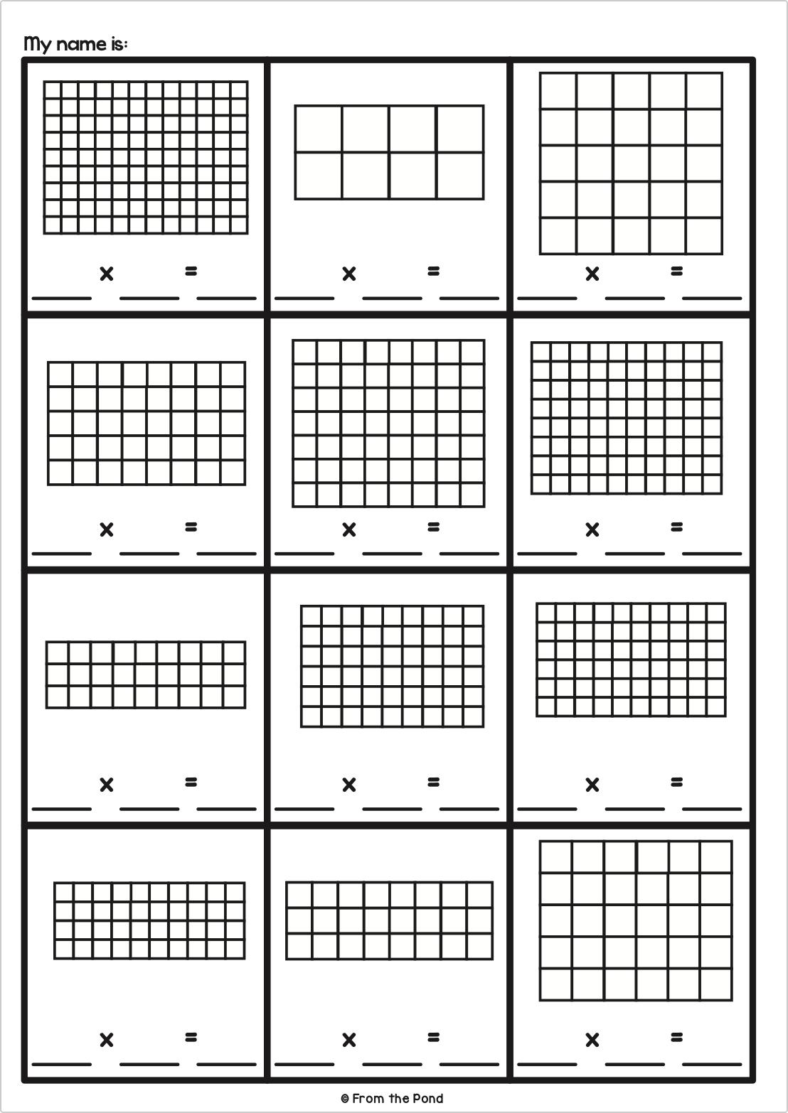 small resolution of Array Activities   Multiplication