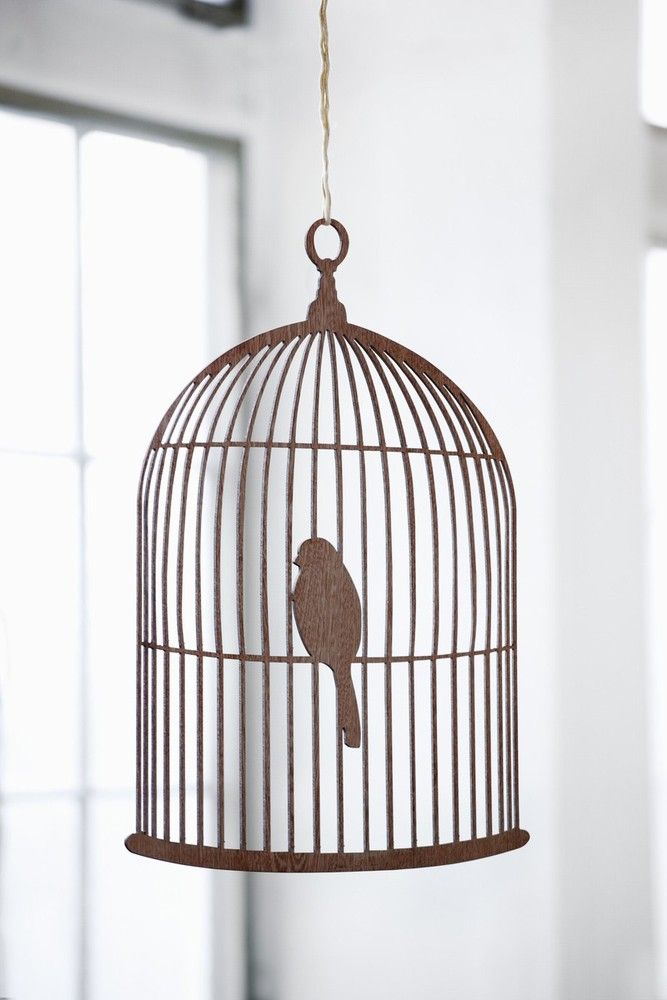 Birdcage Mobile: Here is a bird that it is okay not to feed. Our birdcage mobile is made of carved plywood with fine details. You can hang the mobile from the ceiling or on a wall - either way this cute mobile will add an extra touch to your home.