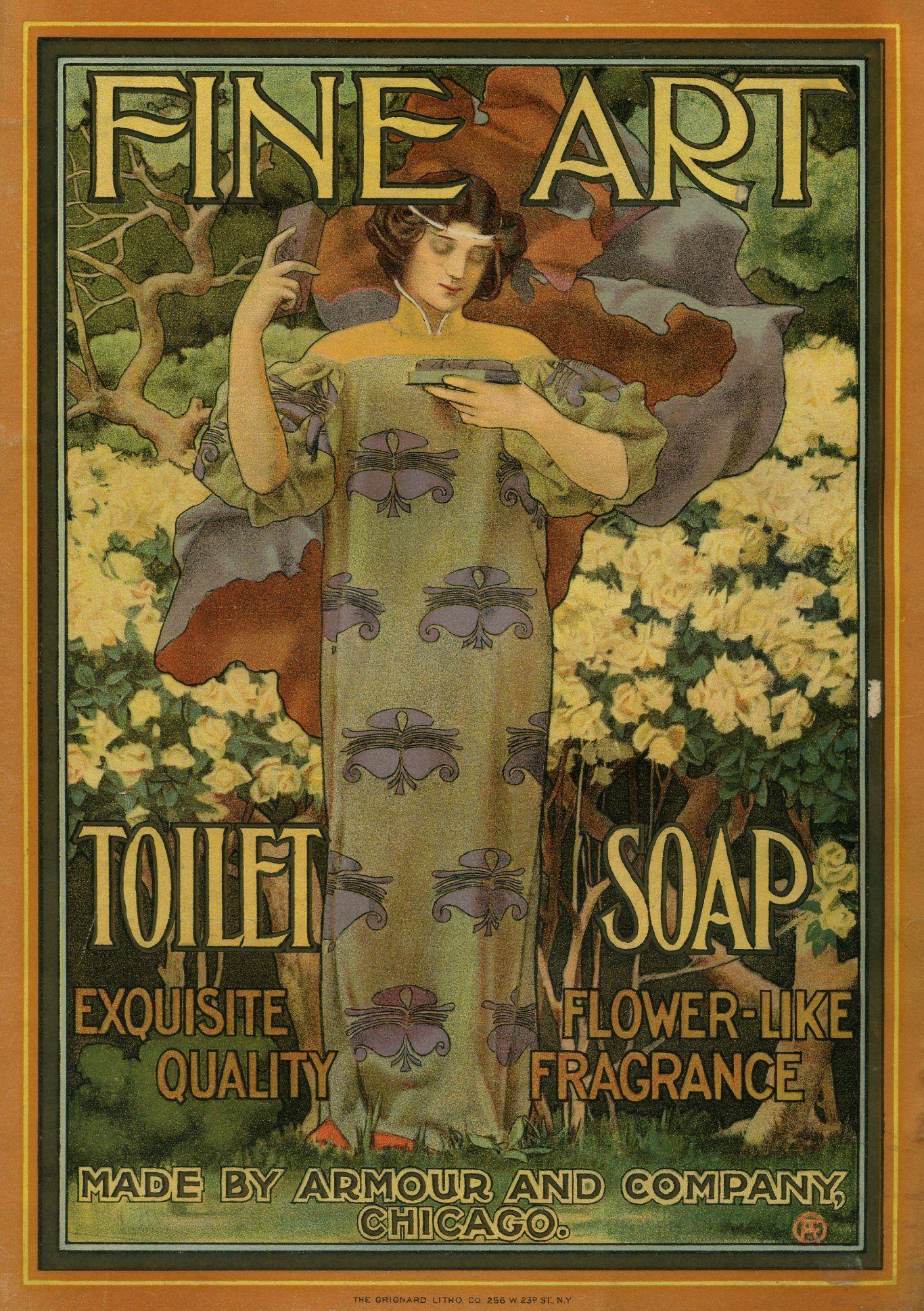Fine Art Toilet Soap 1901 #vintageads #Ads #vintage # ...