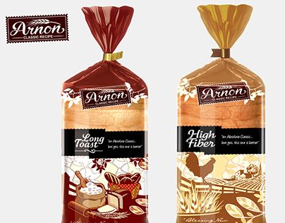 Arnon Bakery S Packaging Bread Packaging Bakery Packaging Food Packaging Design