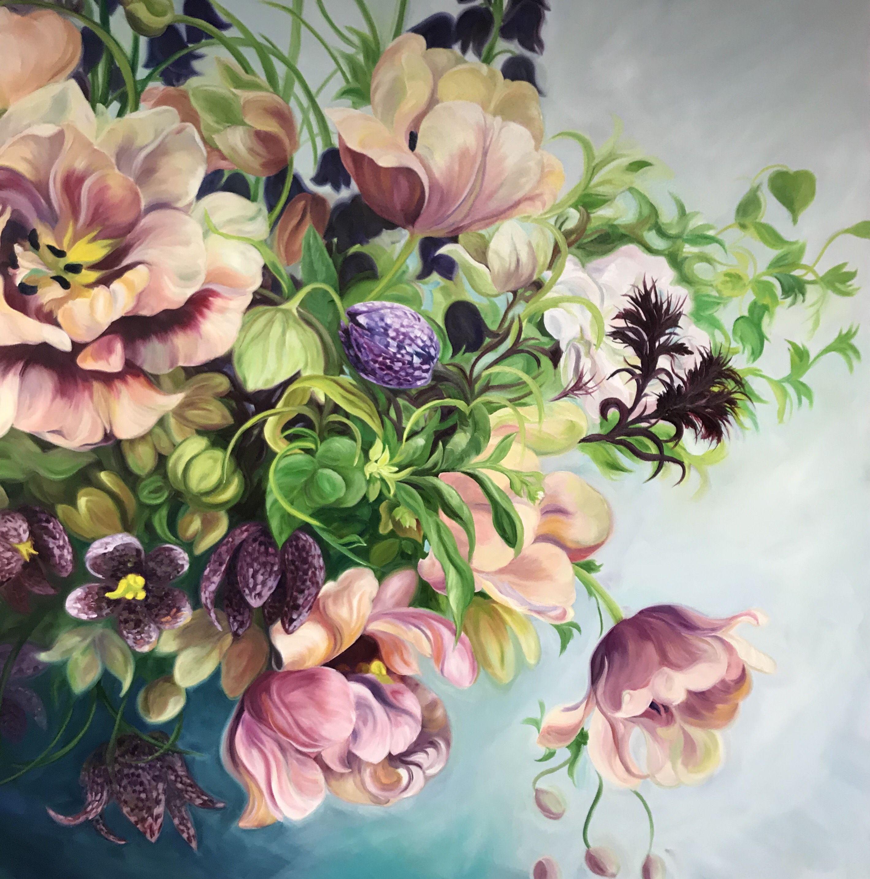 Case Study Flower Painter Anita Nowinska On Leveraging Influencers Online Marketing For Artists Flower Painting Flower Bouquet Painting Flower Painting Original