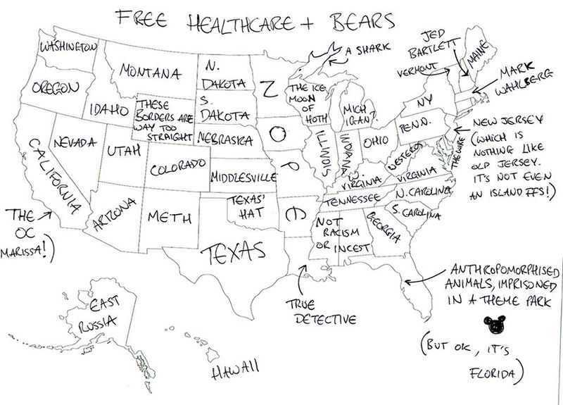 People In London Tried To Label The 50 Us States On A Map These Are