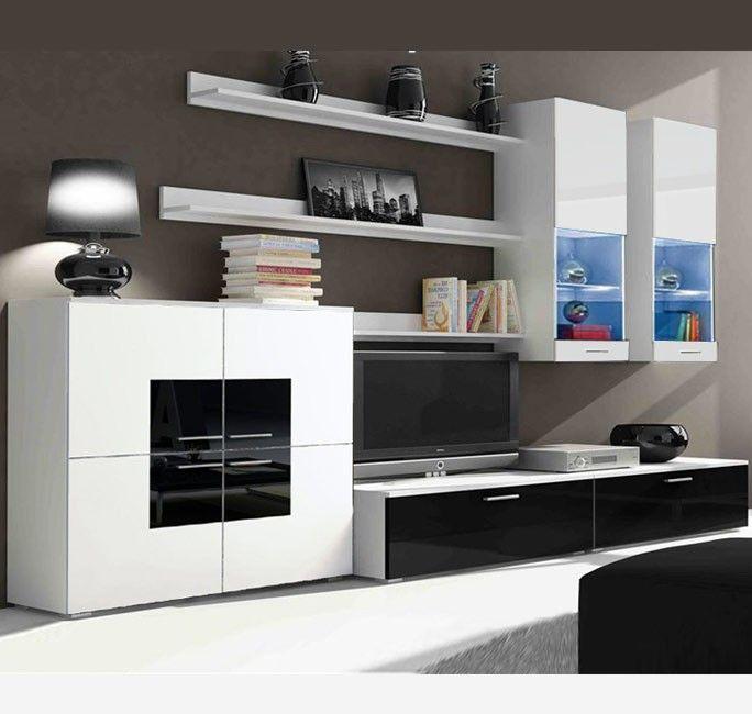 Mueble de saln Violeta blanco y negro modelo 2 3 m 479 http