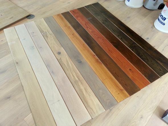 Kann man bei einem Eiche-Parkettboden nach dem Abschleifen die Farbe dunkler machen? (Parkett, Farbe verändern)