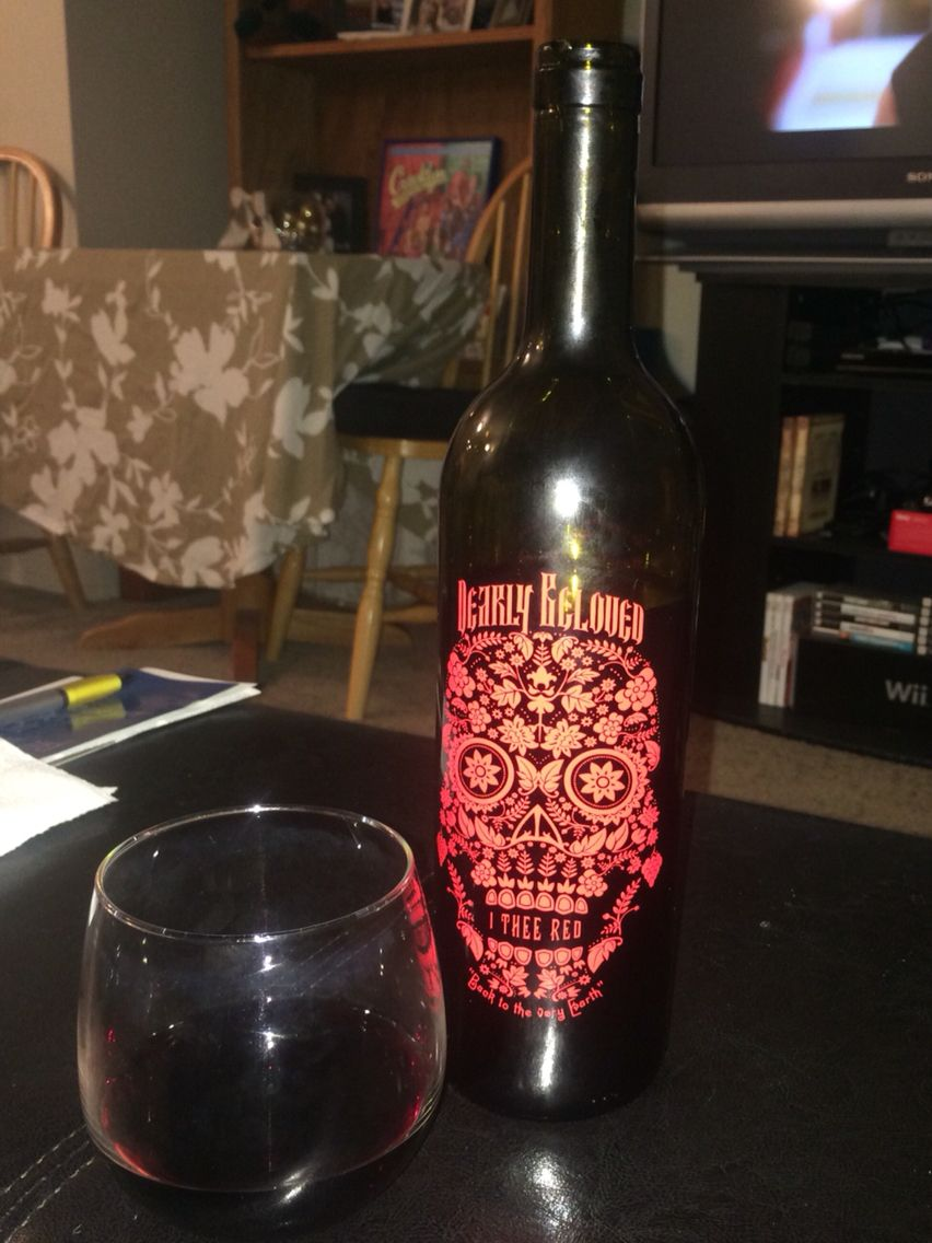 California 2013 Red Blend Dearly Beloved I Thee Red Delicious And Smooth Beer Bottle Bottle Red