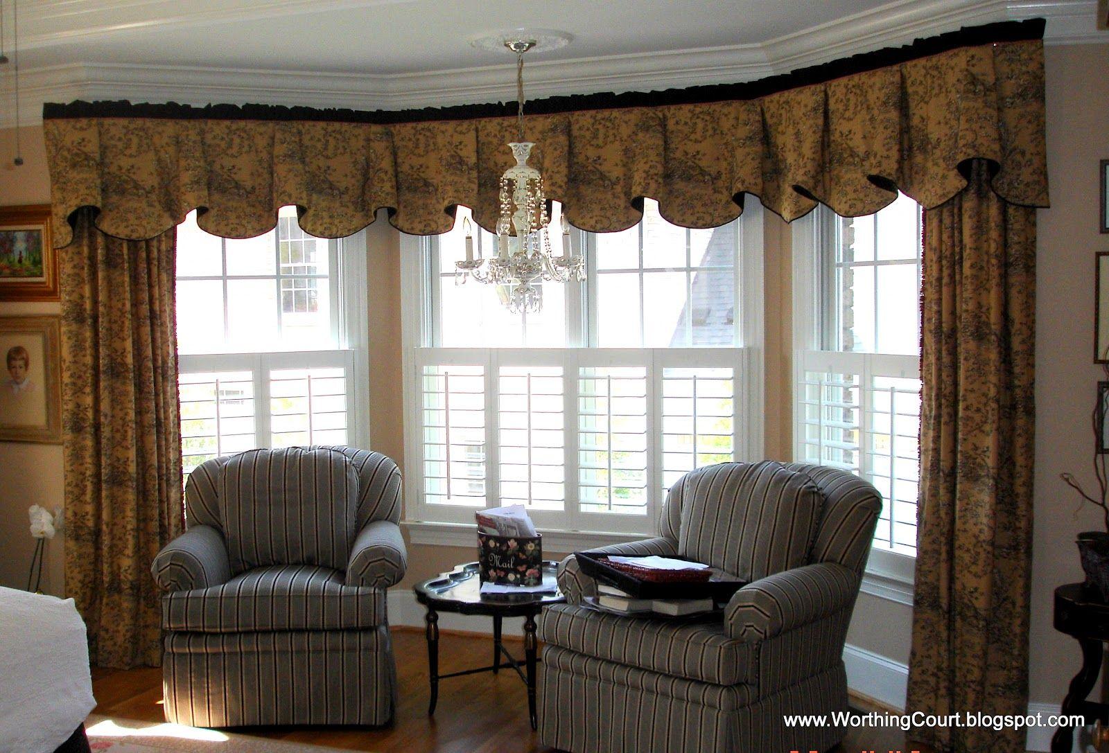 Bay window treatment ideas worthing court bay window - Window coverings ideas living room ...