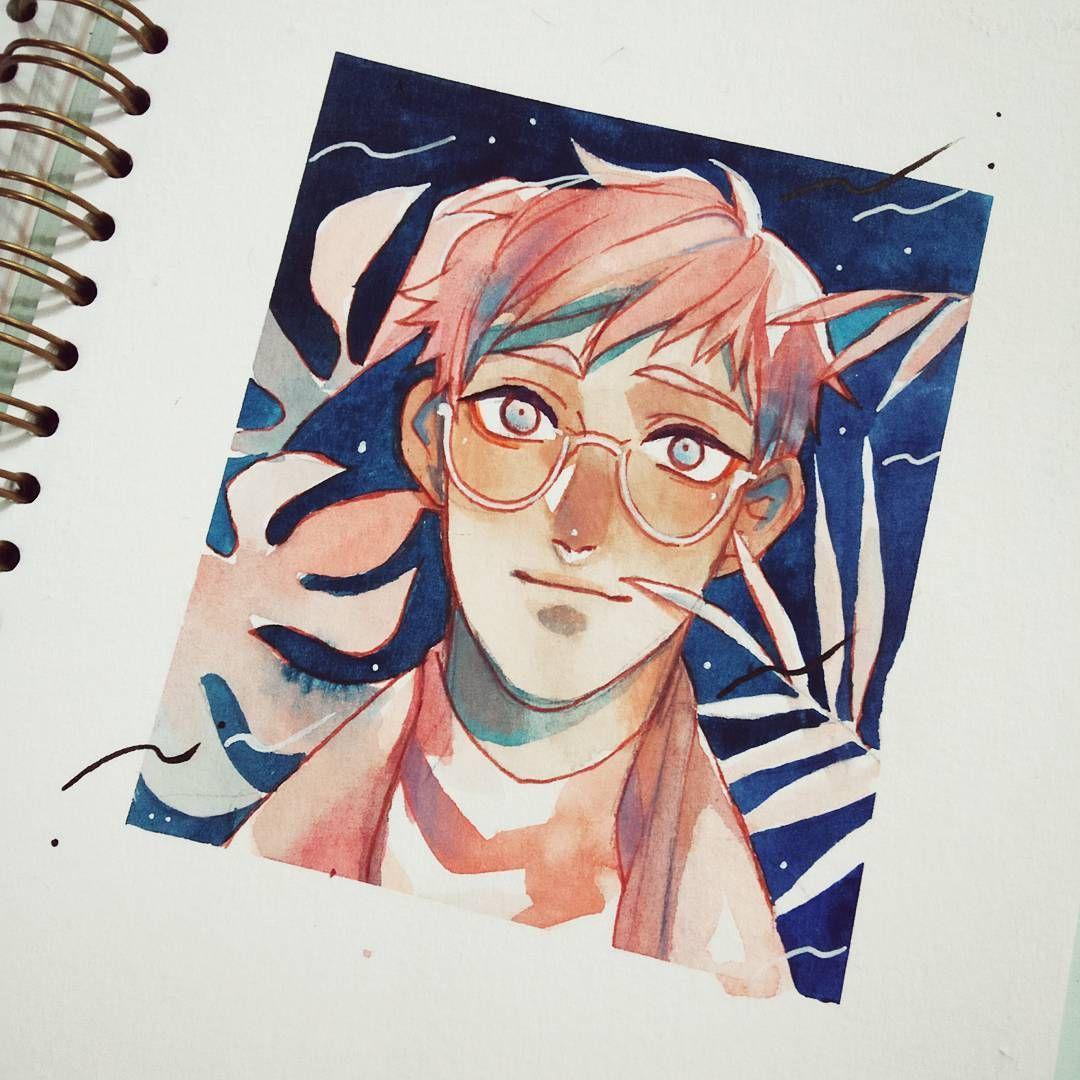 Watercolor Oc Human Art Human Painting Cartoon Art