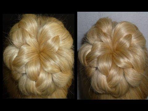 Einfache Frisuren.Flechtfrisuren mit Dutt.Zopffrisuren.Donut Hair Bun Updo Hairstyles.Peinados