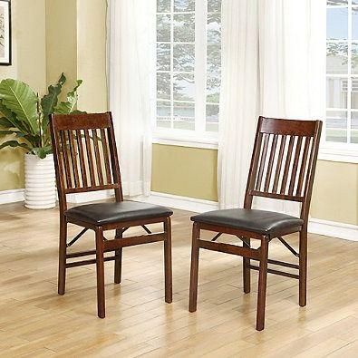 Mission Back Wood Folding Chair Folding chairs, Extra seating and