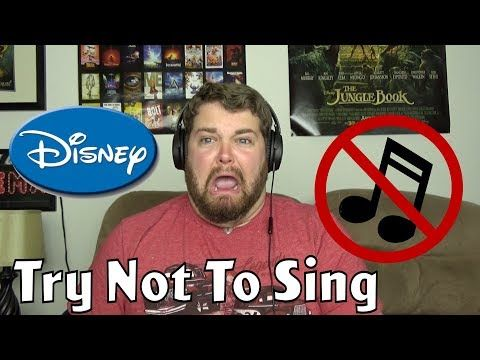 Try Not To Sing Challenge Disney Edition Youtube Singing Disney Challenge Brian Hull