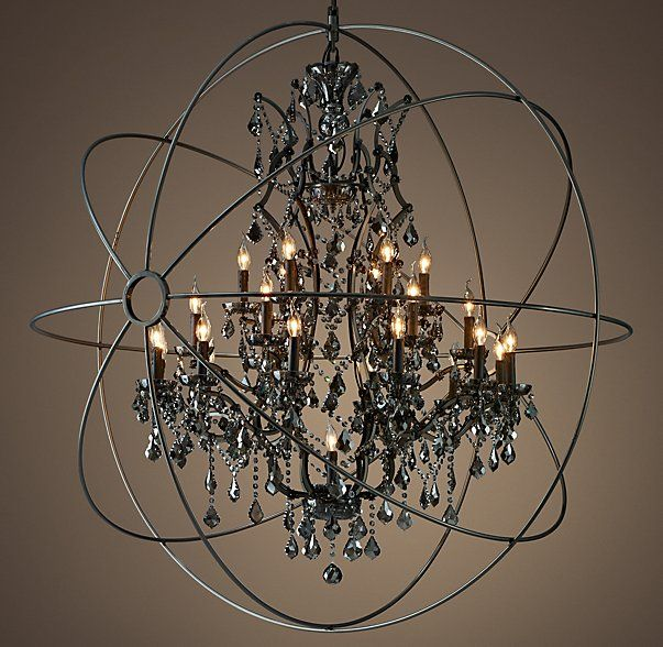 """Factory Outlet Vintage Crystal Candle Lighting Rustic Matt: Foucault's Orb Smoke Crystal Chandelier 60"""" In 2019"""