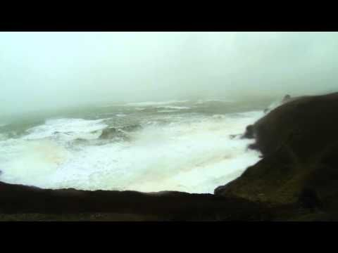UK Storm waves breaking over house on rinsey head cornwall 14/02/2014 part 2 - YouTube