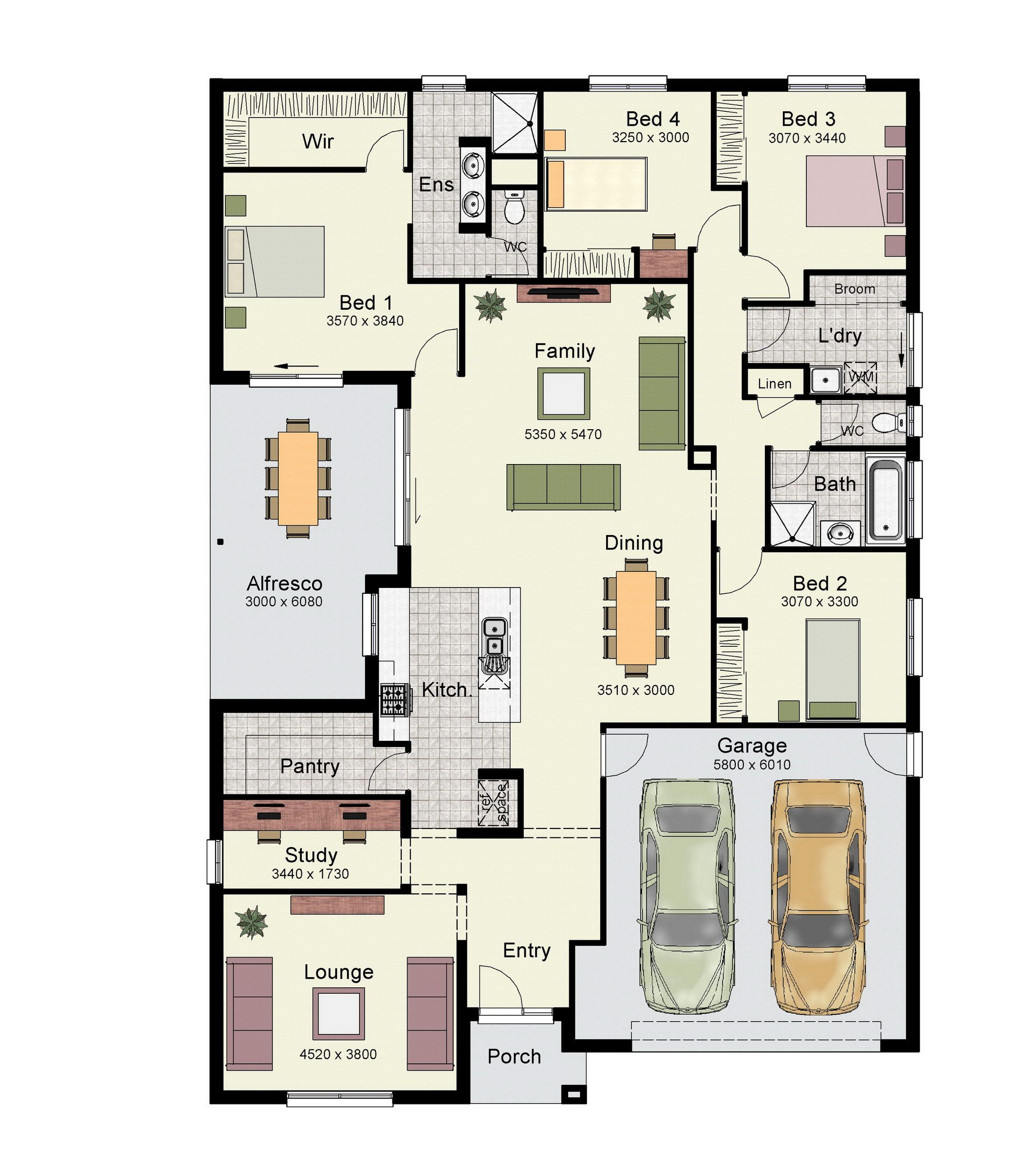 Double Garage Design In Sidcup: The Eureka 263 Features Four Bedrooms, Two Bathrooms And A