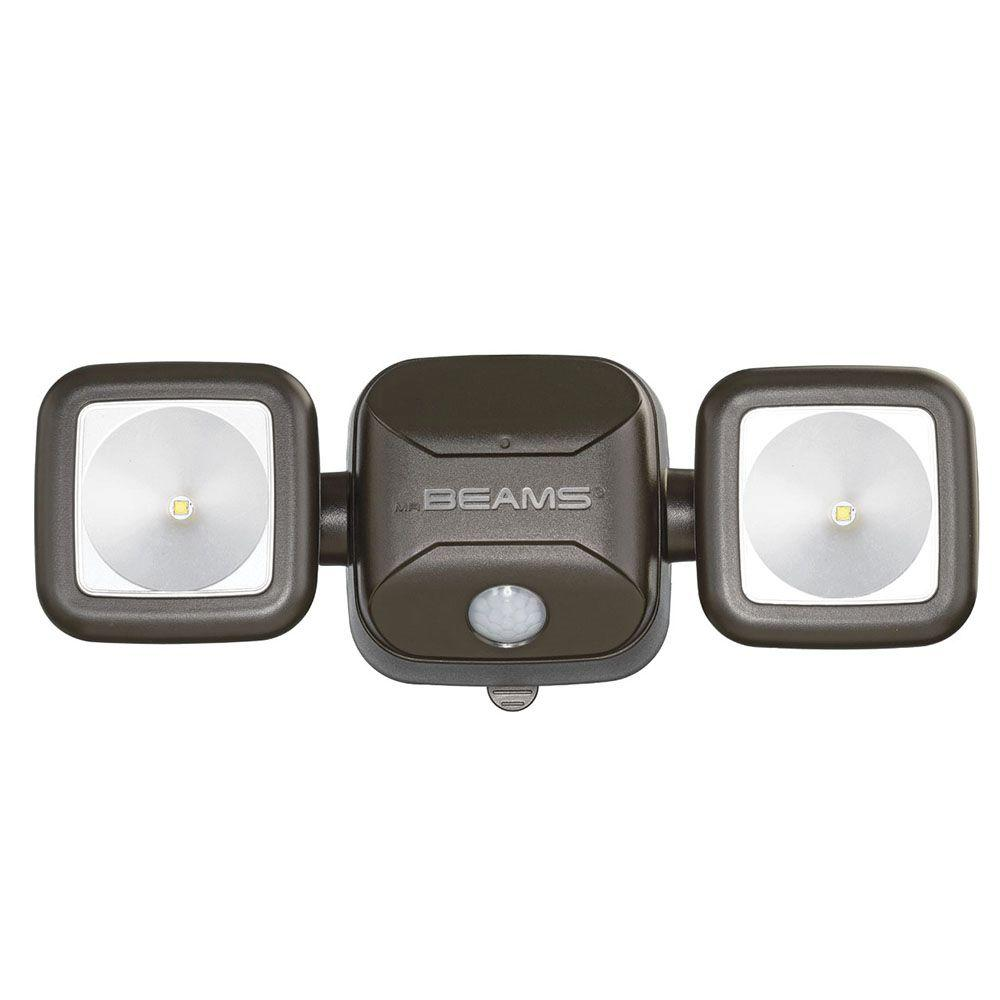 Mr Beams High Performance Bronze 500 Lumens Battery Operated Led Motion Security Light Mb3000 Brn Beams Battery Operated Led Lights