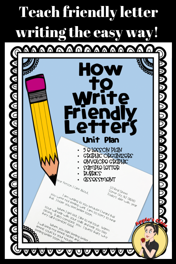 Friendly Letter Template and Lesson Plan {Grades 35