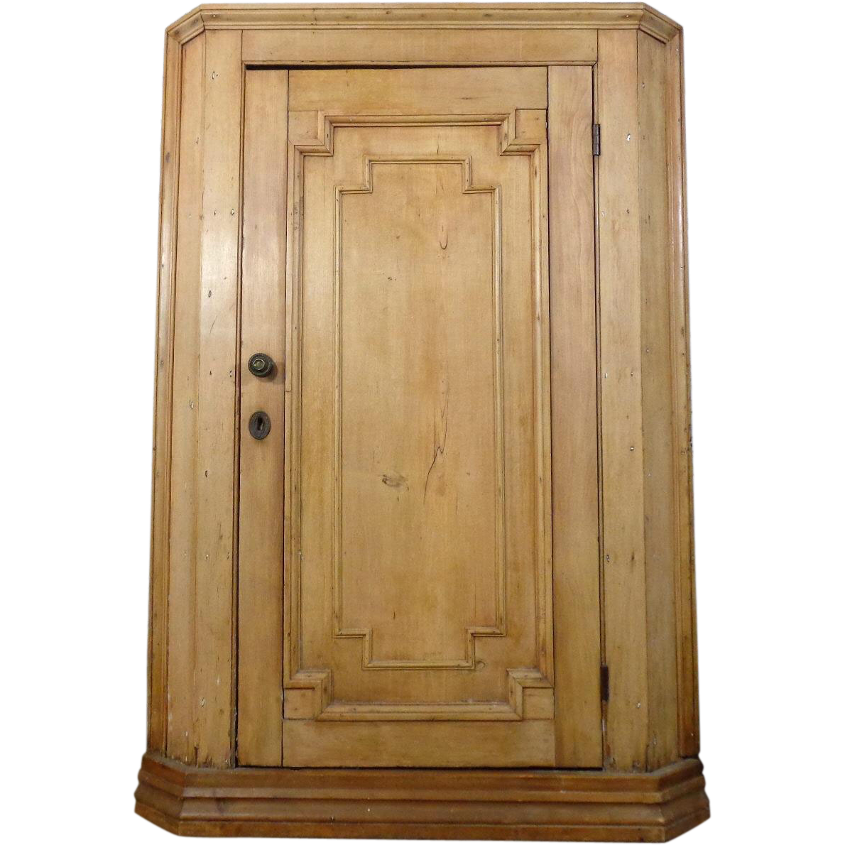 Antique Swedish Pine Corner Cabinet