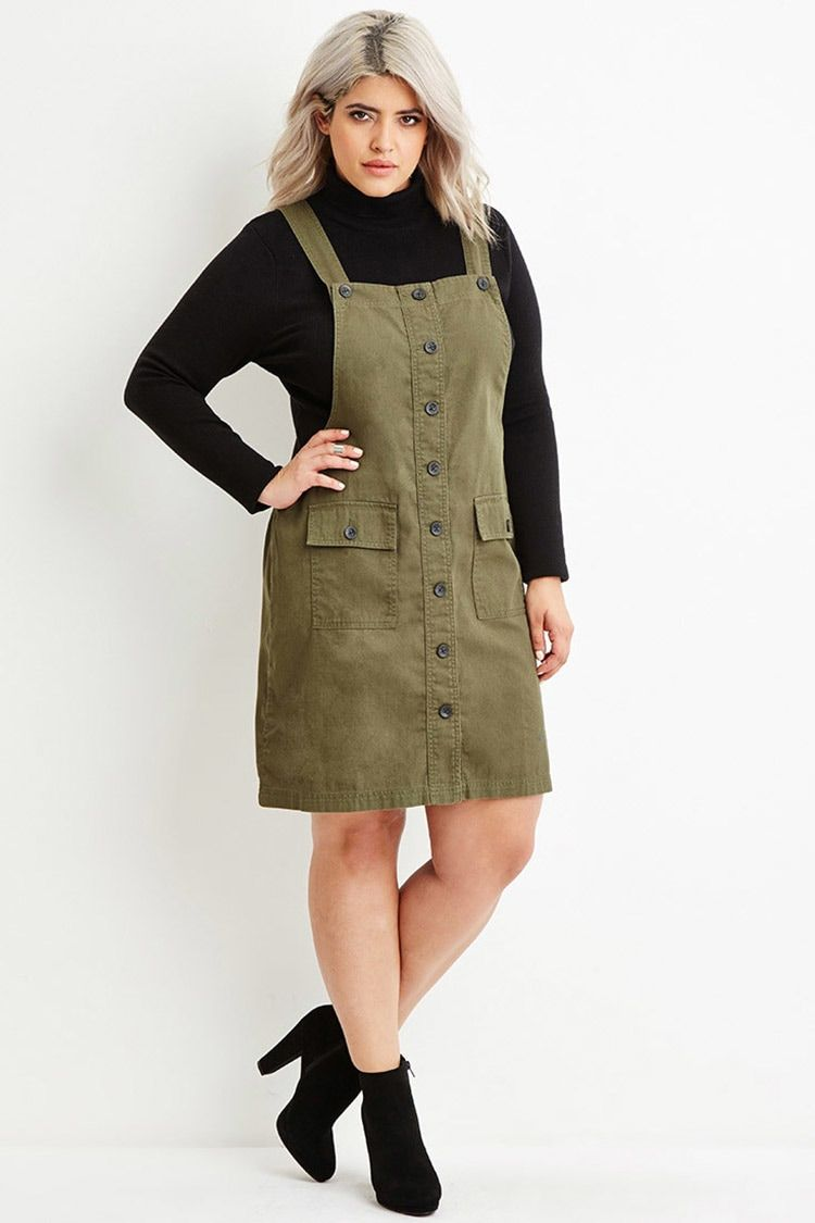 Plus size cargo overall dress back to school pinterest