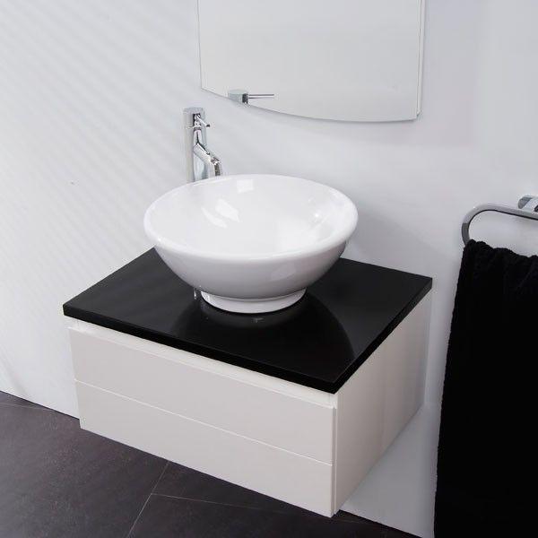 Vail Wall Mounted Basin Dual Storage Unit Bathroom