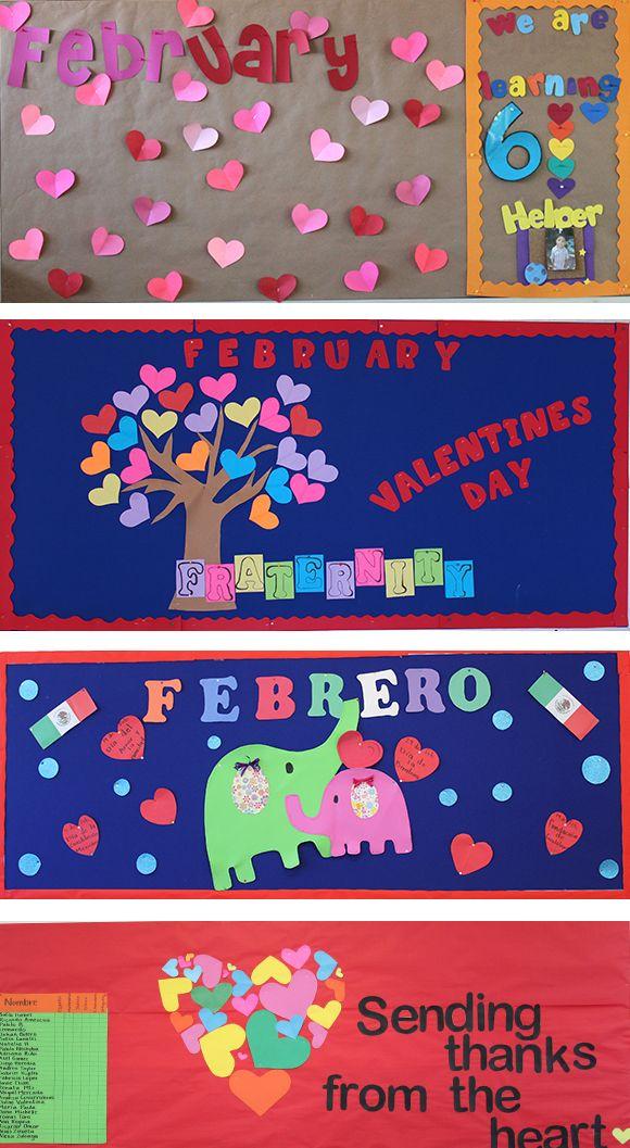 Febrero d a del amor y la amistad ideas de escuela for Puertas decoradas del 14 de febrero