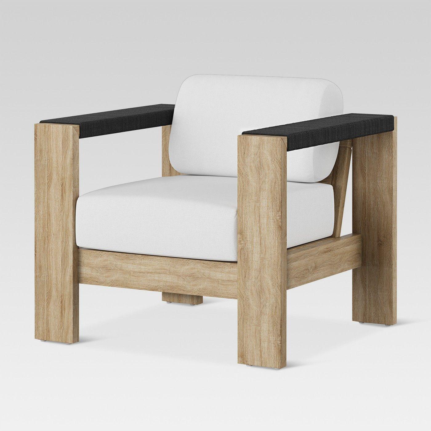 Montpelier Wood Patio Club Chair with Sunbrella Fabric