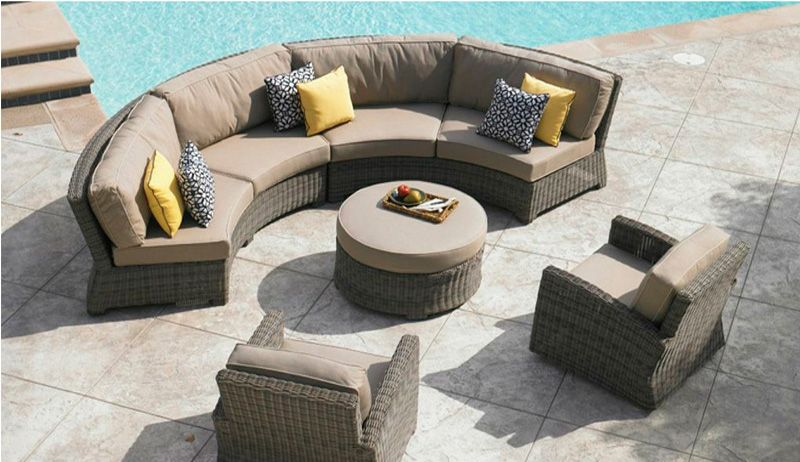 Outdoor Patio Furniture Chicago Wicker Cozumel Curved Sectional Sofa Patiofurniture