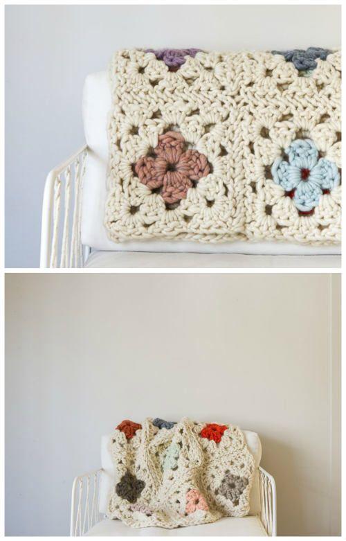 Granny Square Blanket - Free Crochet Pattern | Crochet | Pinterest ...