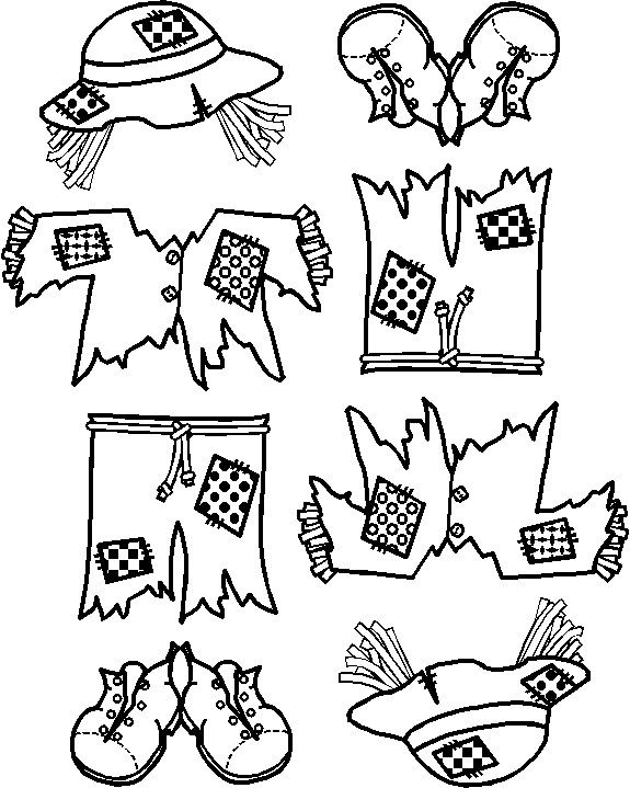 scarecrow coloring pages kindergarten letters - photo#32