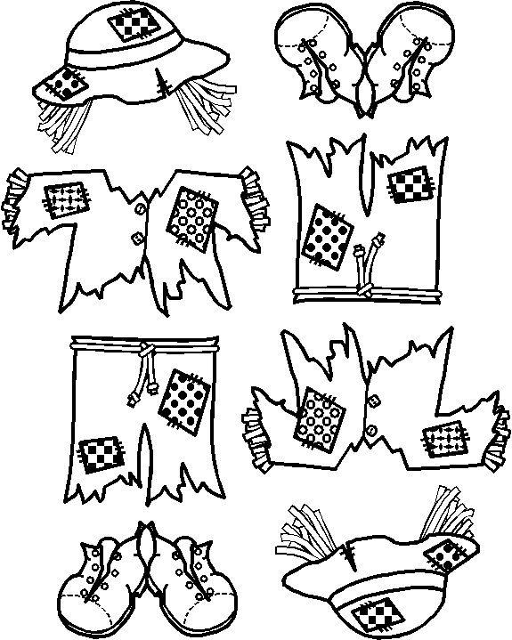 scarecrow paper doll friends paper dolls pinterest scarecrow