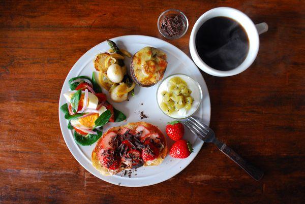 Lovely breakfast.