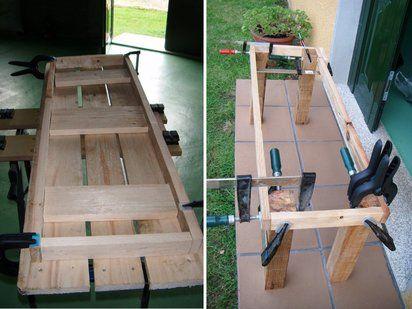 un banco para la terraza por muy poco dinero wood On plan para construir un banco en un palet