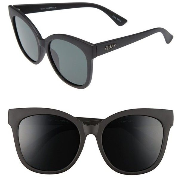 a9344c03b7d Women s Quay Australia  It s My Way  55Mm Oversize Sunglasses ( 55) ❤ liked  on Polyvore featuring accessories