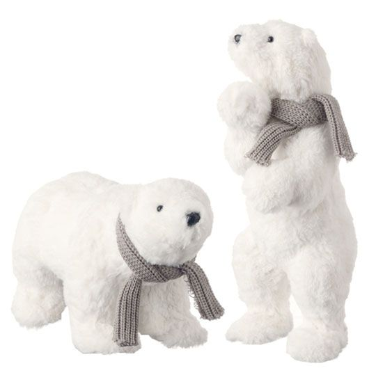 I Can T Wait For List Of Favourite Christmas Decorations Polar Bear Christmas Christmas Teddy Bear Bear Decor