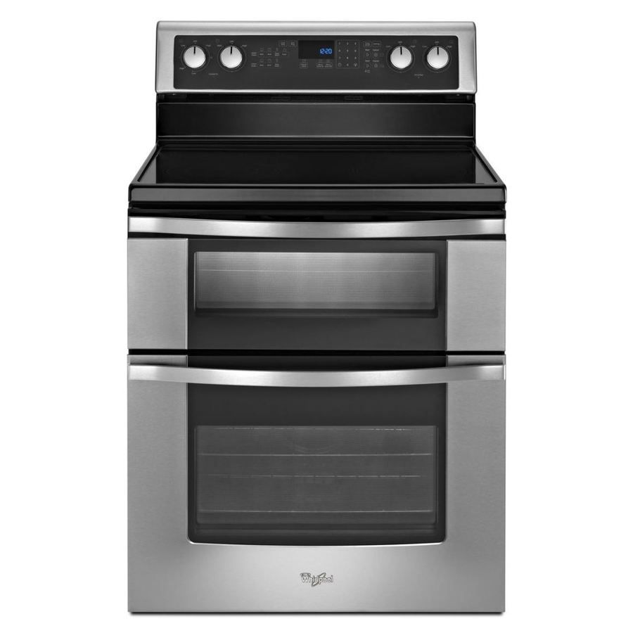 Shop Whirlpool 30 In Smooth Surface 5 Element 4 2 Cu Ft 2 5 Cu Ft
