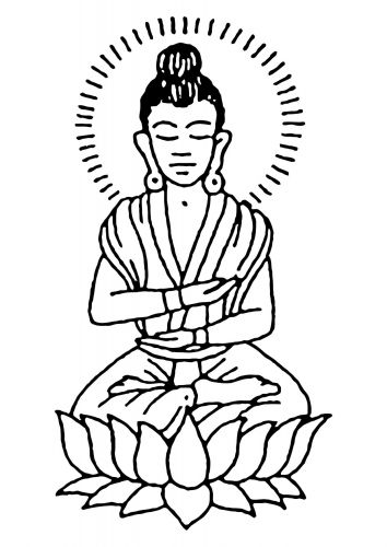 Coloring page Buddha | Coloring pages... | Pinterest | Coloring ...