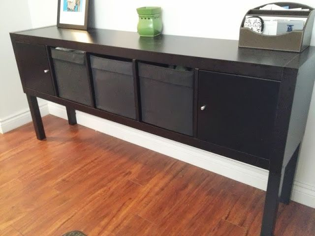 New Expedit Lack Sideboard IKEA Hackers Adding legs means the expedit can be any