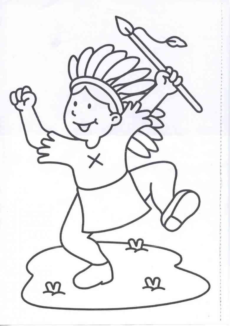 Ausmalbilder Tinkerbell 2 : Indianer 5 Ausmalbilder Indianer Pinterest