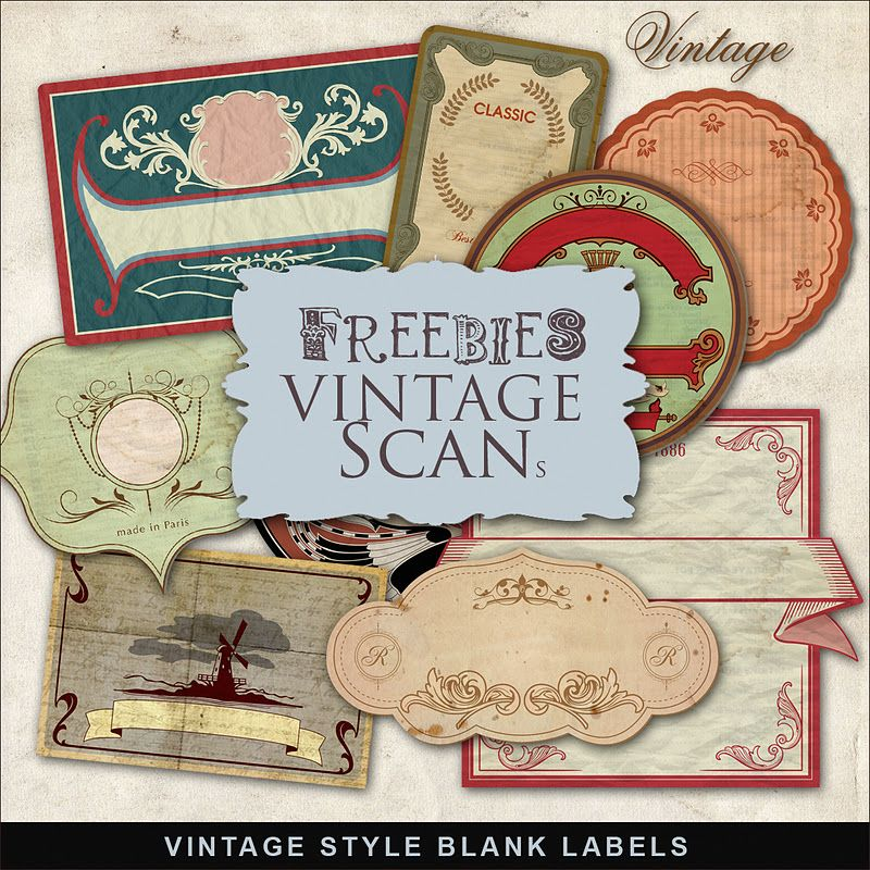 Far Far Hill Freebies Vintage Style Labels Kit Scrapbook Printables Vintage Printables Vintage Labels