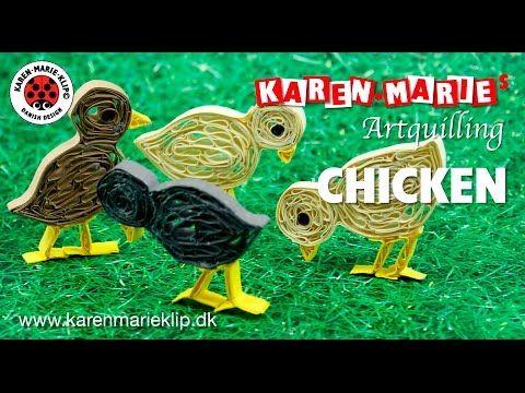 3D Spring Chicken Quilling Kit Karen Marie Klip